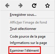 inspection des elements avec mozilla firefox