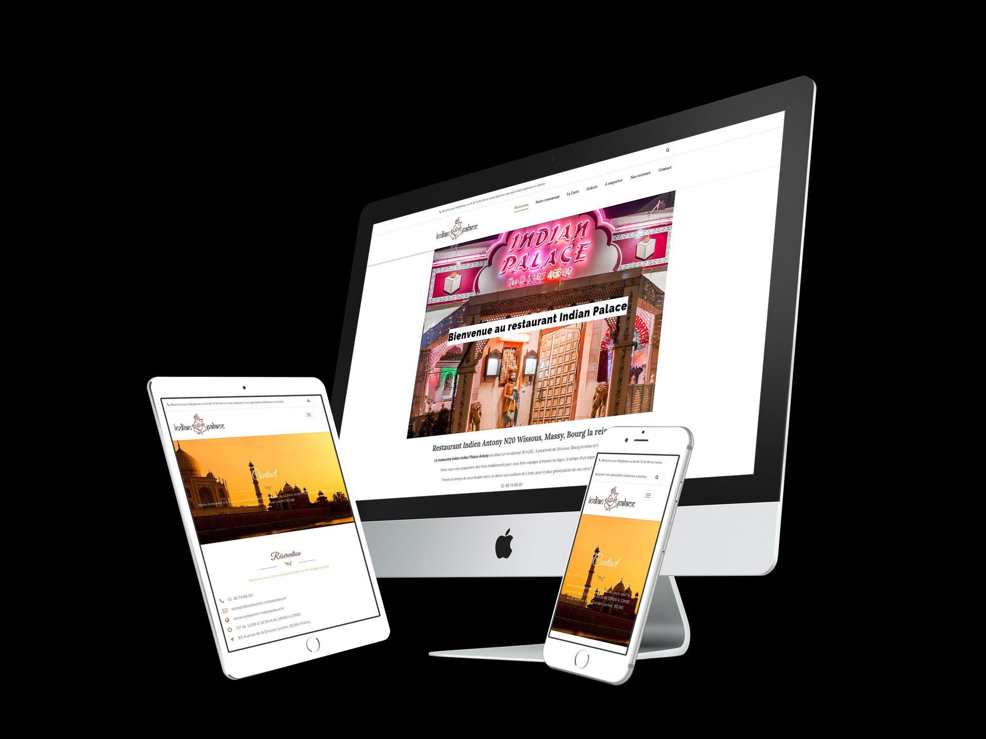 creation site vitrine restaurant indien indianpalace