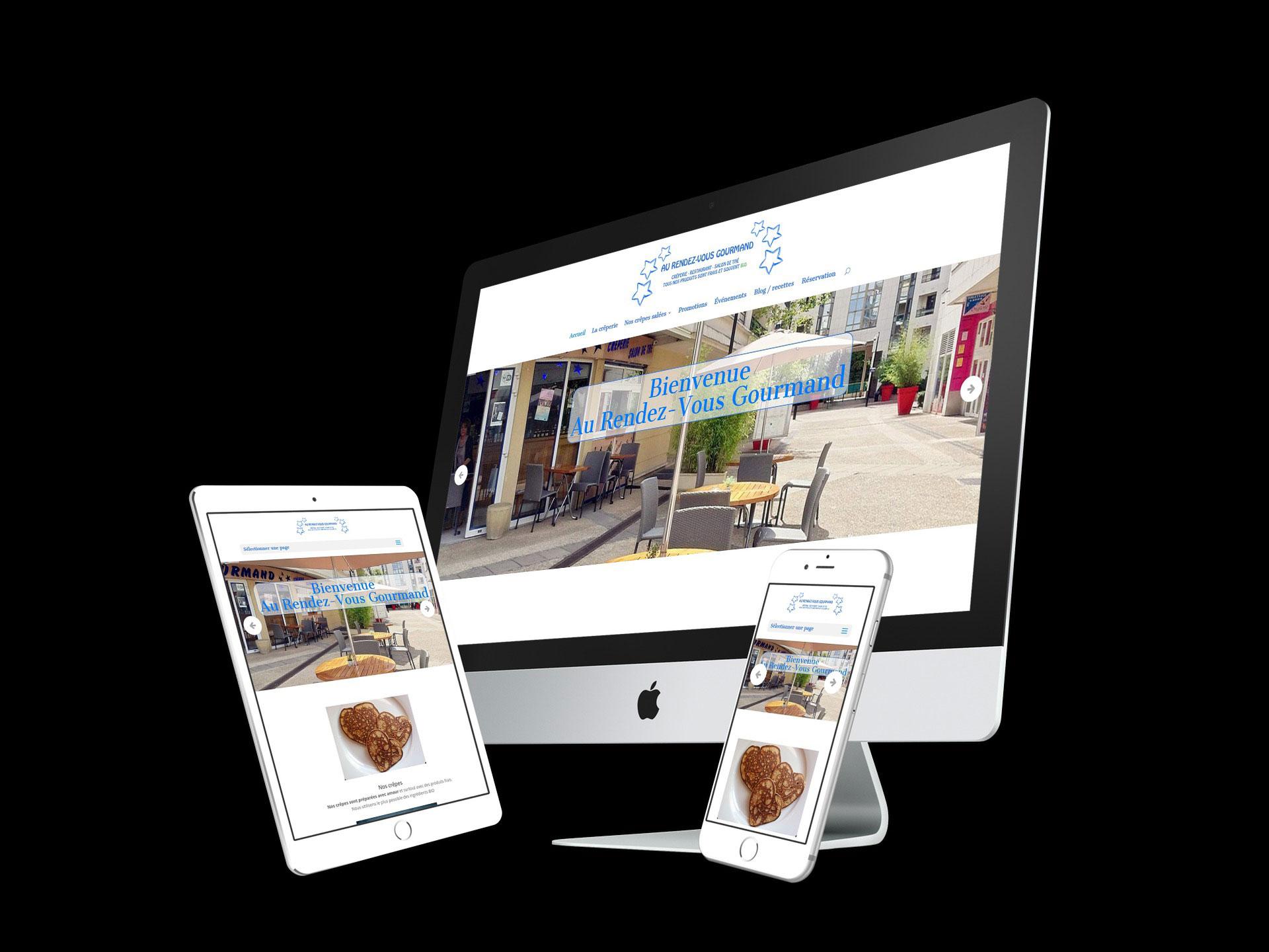 refonte site vitrine restaurant rdv gourmand