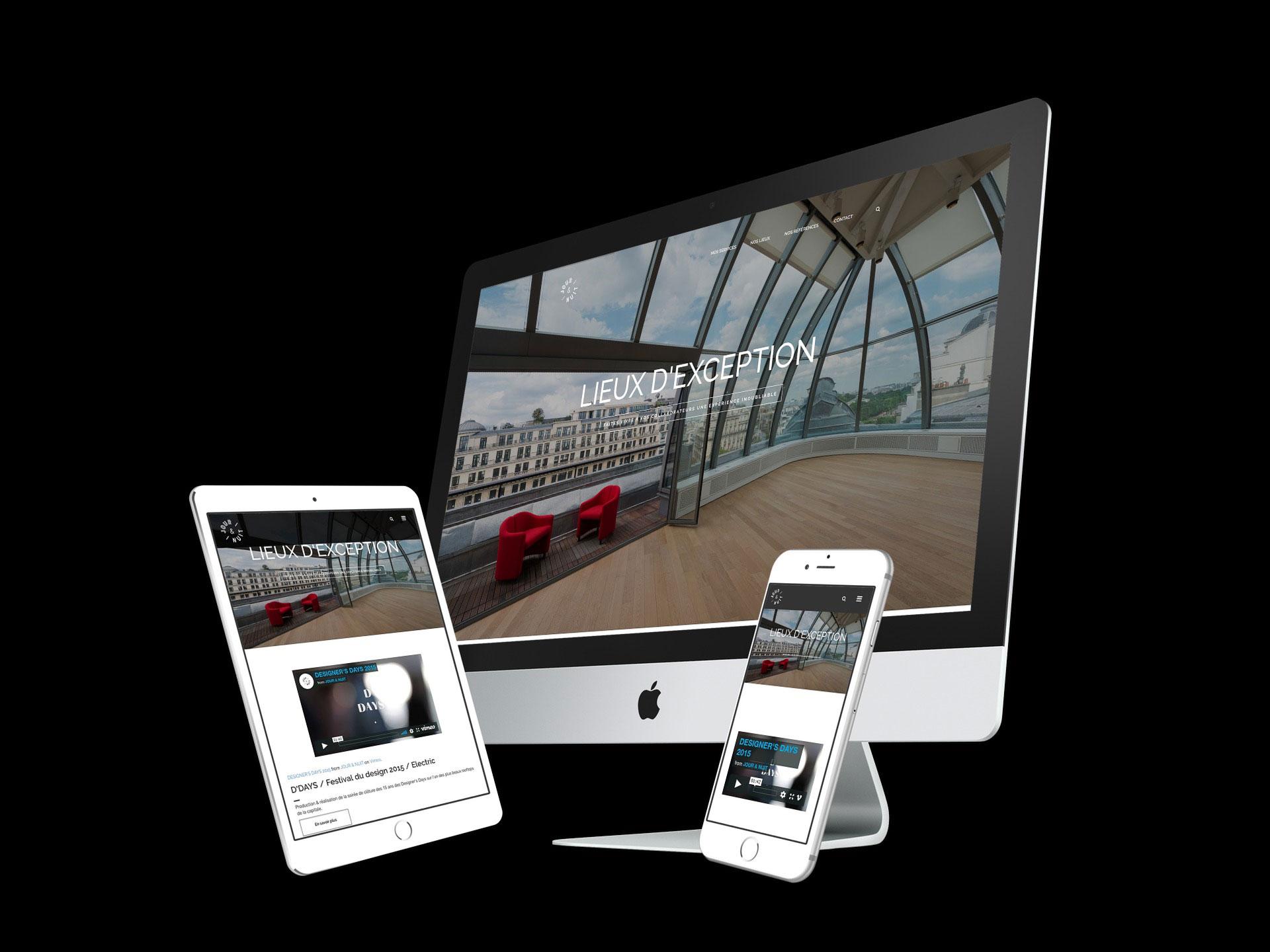 visualisation site vitrine agence paris