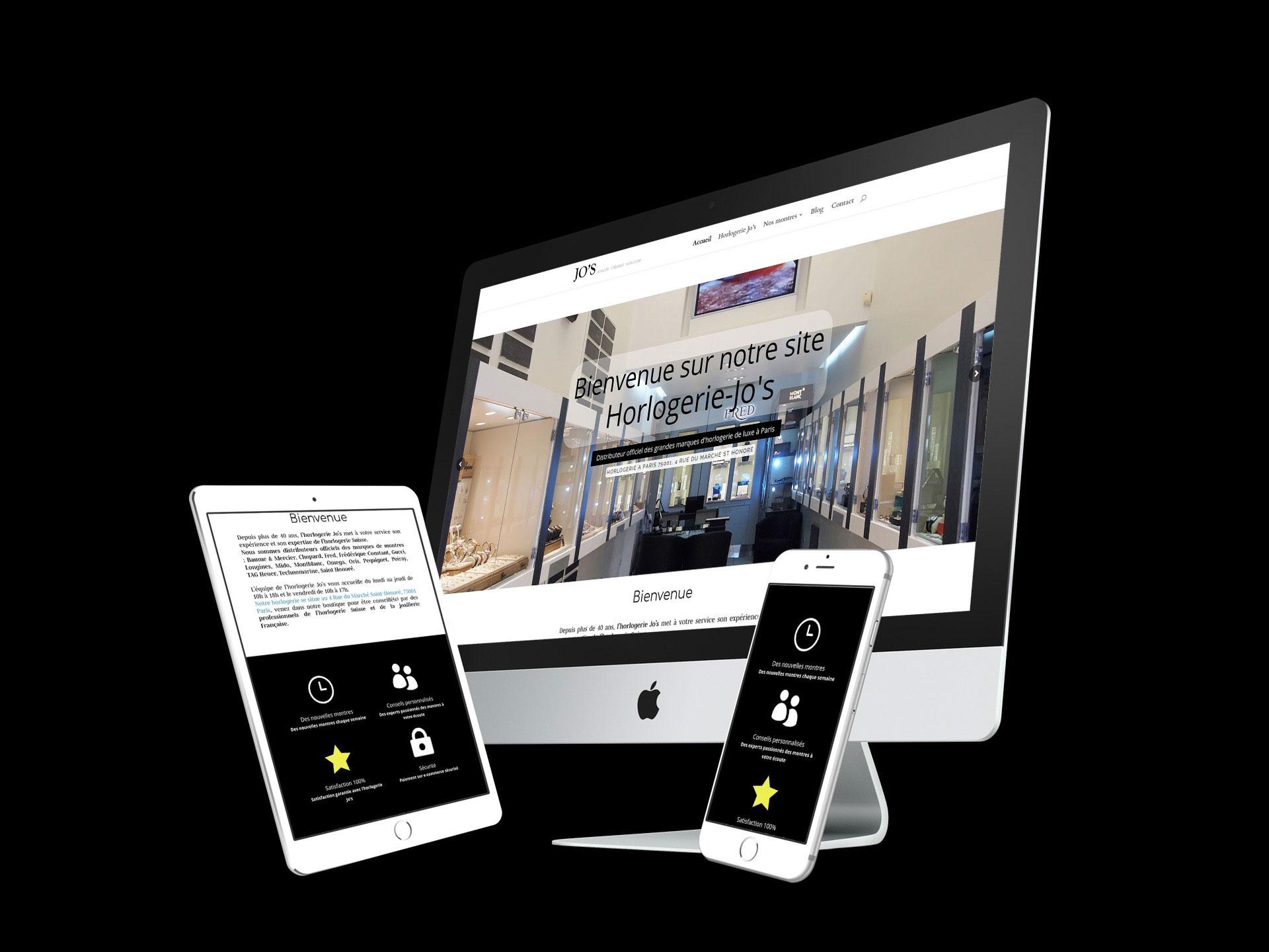 visualisation site vitrine horlogerie